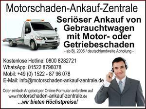 Ankauf von Fahrzeuge mit Motorschaden oder Getriebeschaden