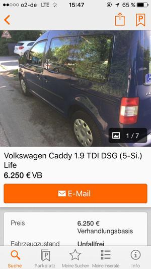 VW Caddy 1,9 TDI DPF Line
